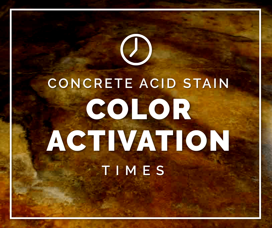 DIRECT COLORS - Concrete Acid Stain Color Activation Times