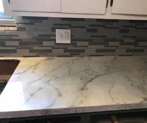 Faux Marble Concrete Countertop
