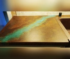 Acid Stained Concrete Countertop