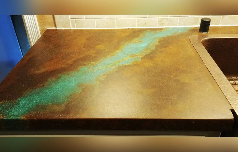 Acid Concrete Stain on Countertops