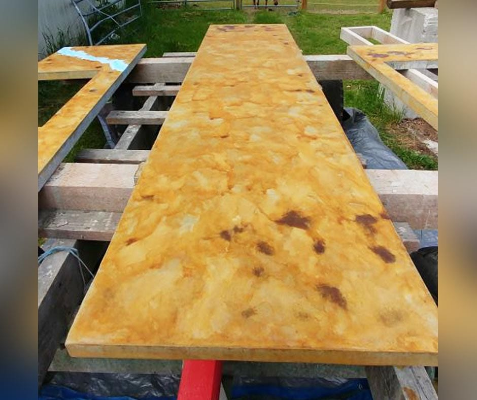Stained Concrete Countertops Direct, Staining Outdoor Concrete Countertops
