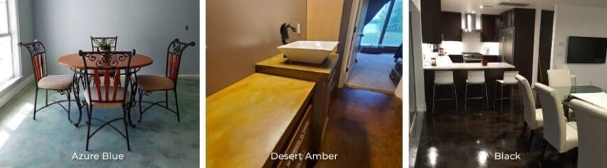 Acid Stained Concrete Floors and Countertops