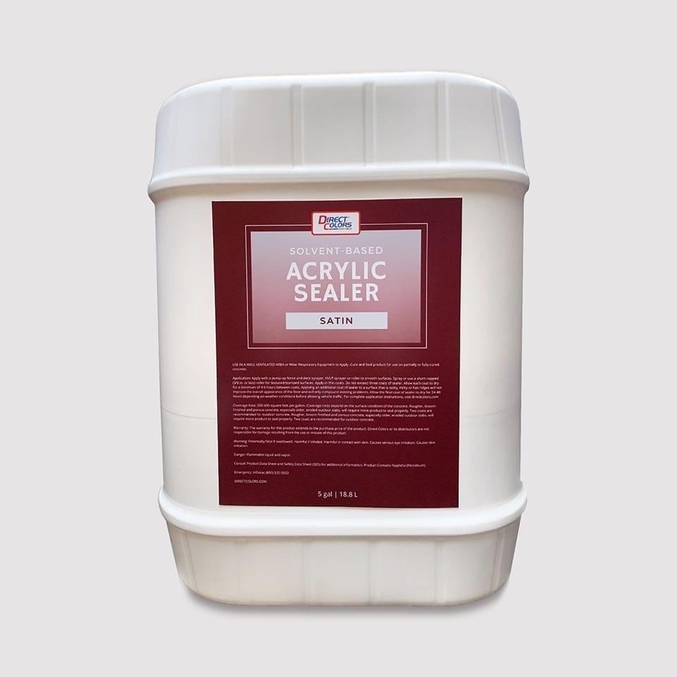 Acrylic Sealer Solvent Satin 5 gal