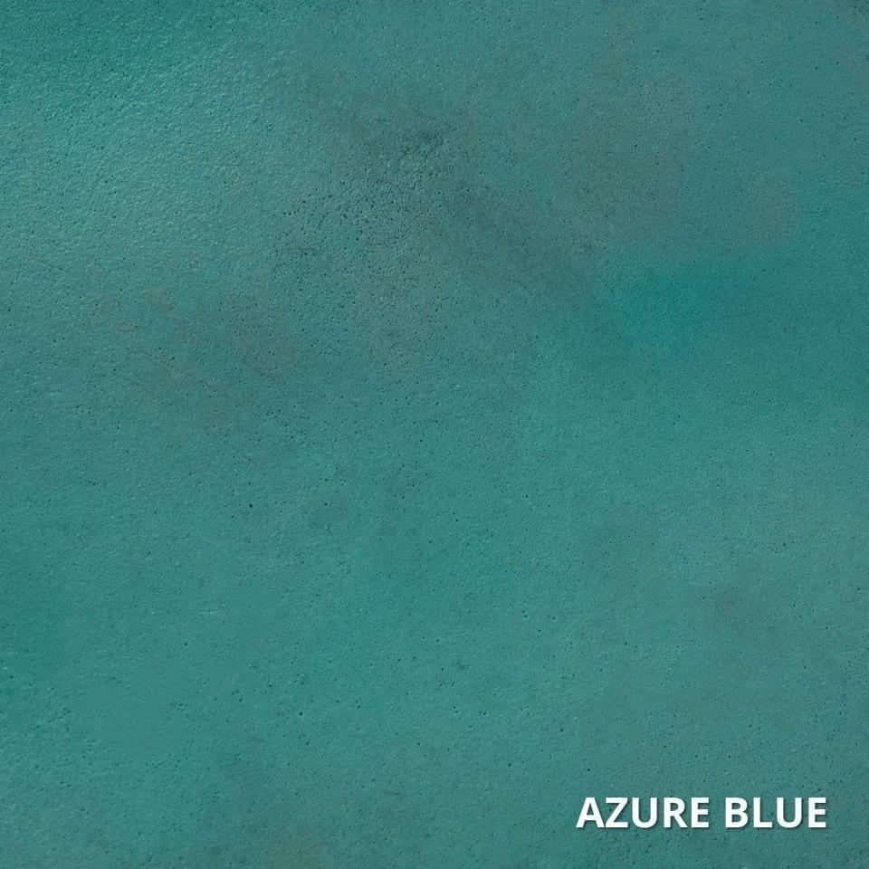 Azure Blue Concrete Acid Stain Swatch