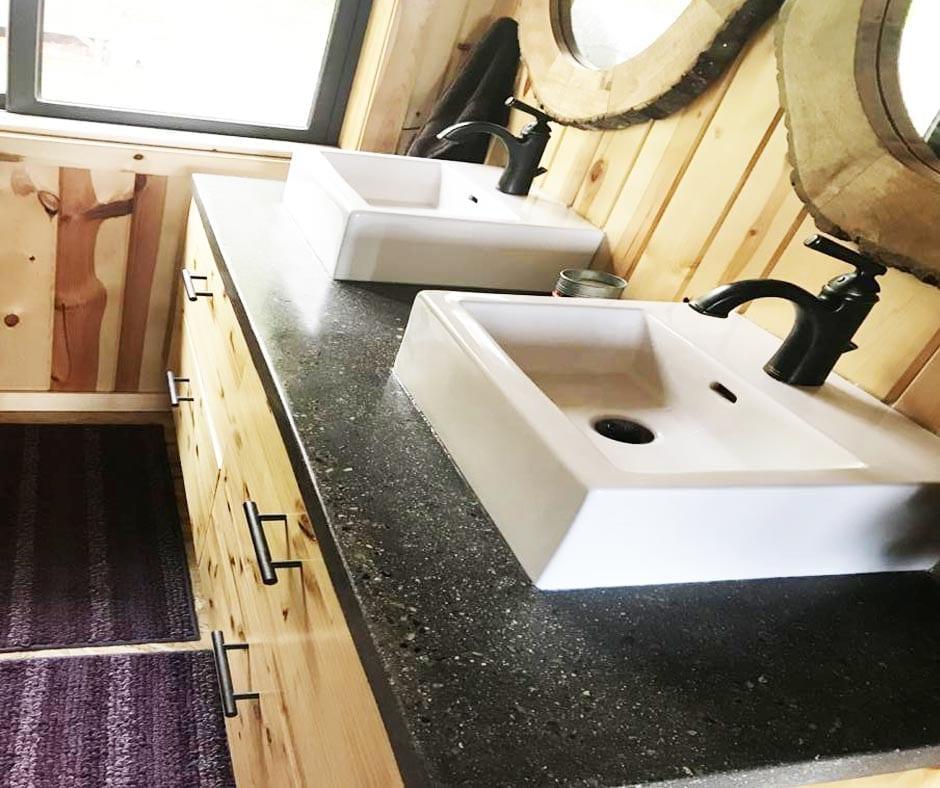 Black Concrete Bathroom Vanity