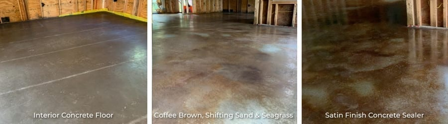 Marbled Acid Stained Concrete Floors - Direct Colors