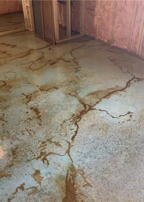 Art Studio Acid Stained Floors