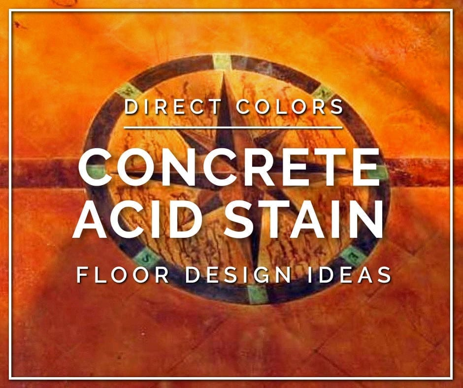 Concrete Acid Stain Floor Design Ideas