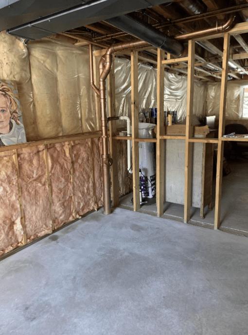 Machine Troweled Concrete Basement Floor