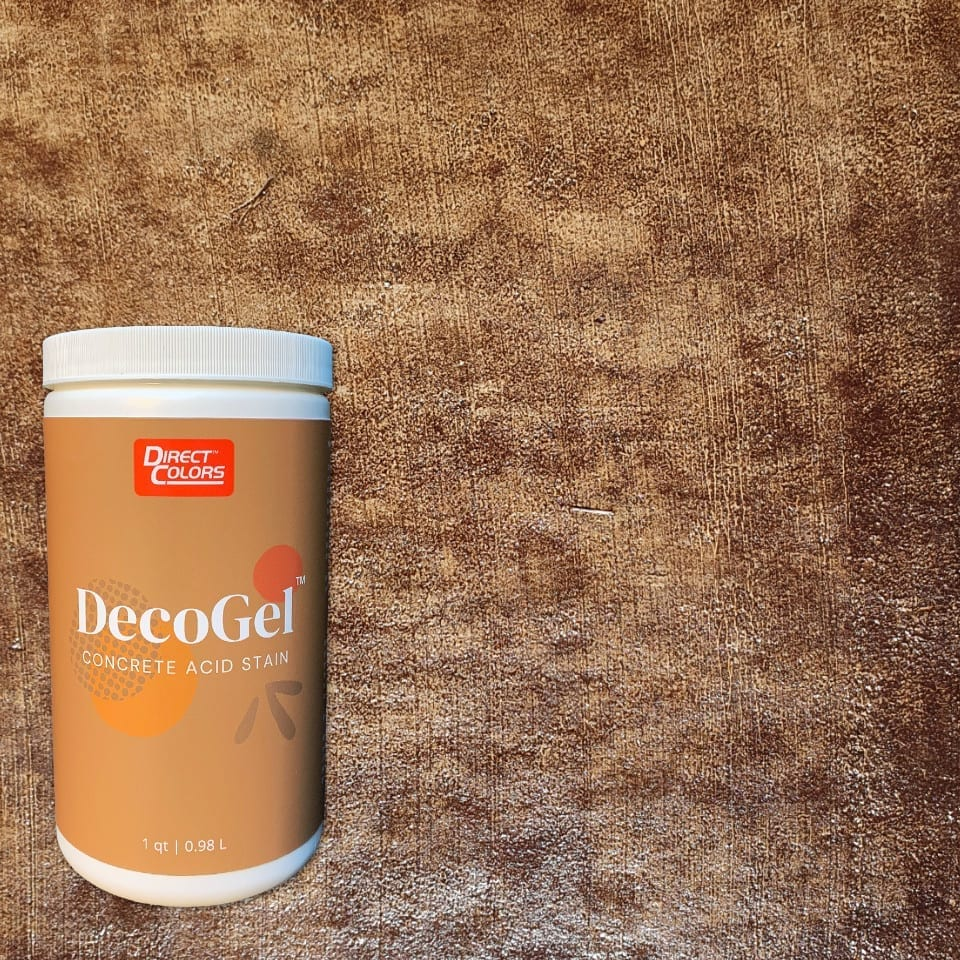 Acid Stain Deco Gel - 1 Qt - Coffee Brown-High-Quality