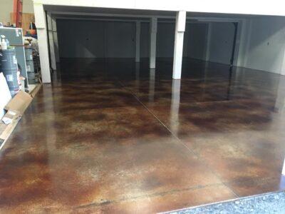 Acid Stained Garage Floor