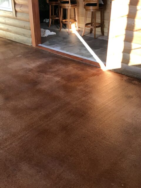 Acid Stain Cabin Concrete Floor