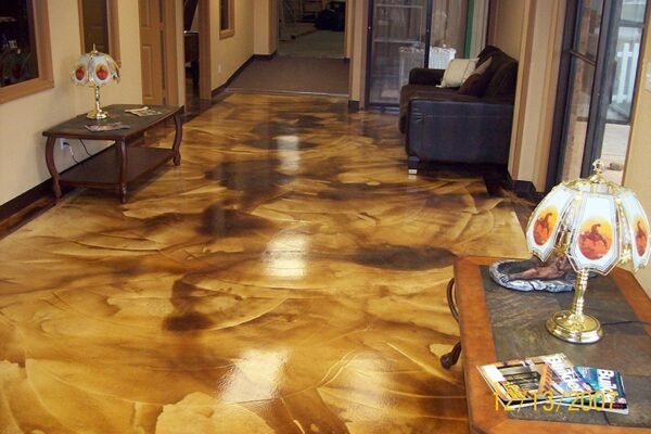 Malayan Buff & Coffee Brown Over Concrete Overlay