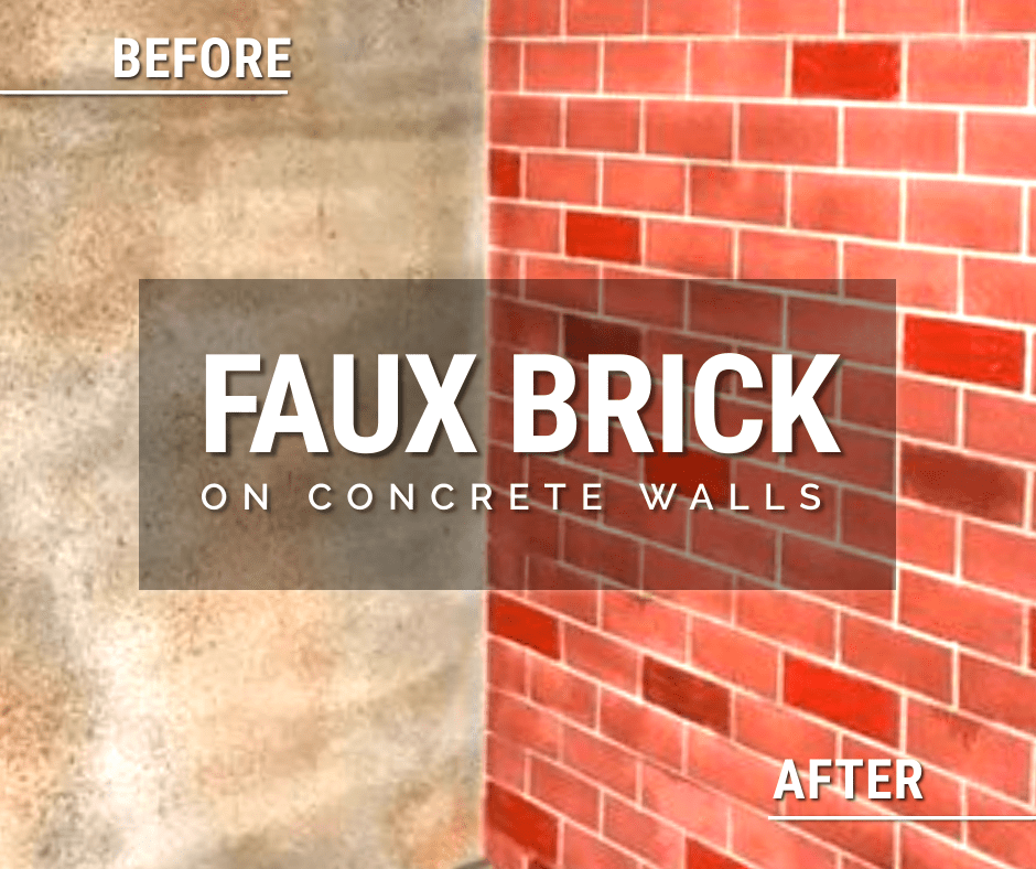 Design by project: How to Create a Faux Brick Wall Design