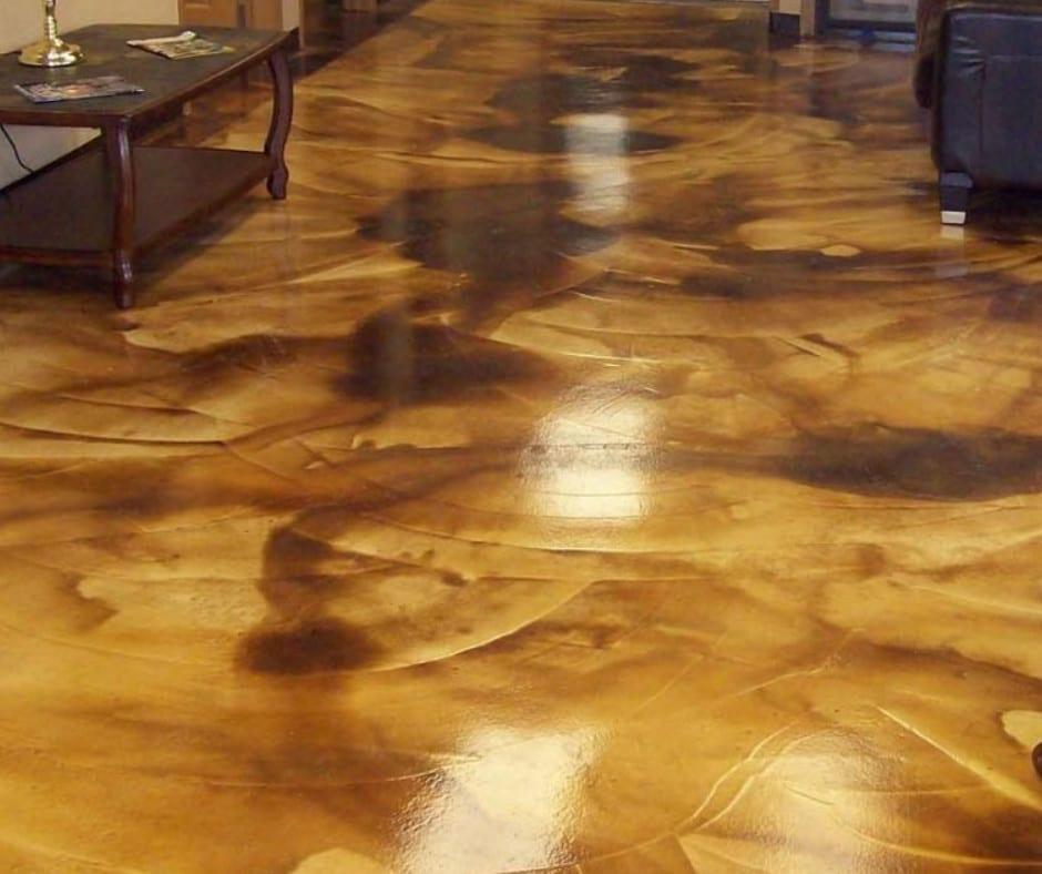 Marble Technique Stained Concrete Flooring