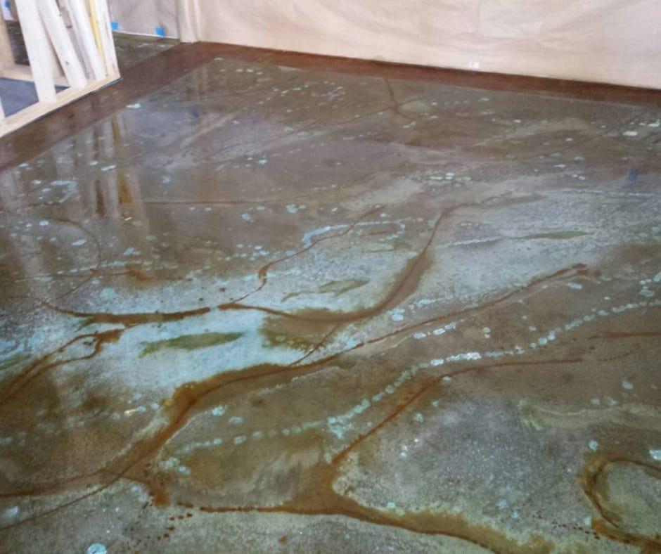 Marble Technique Stained Concrete Floor