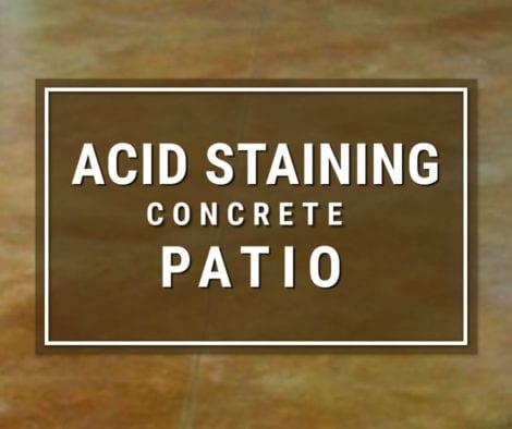 Acid Staining Concrete Patio Floors