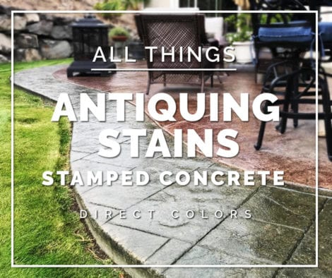 Antiquing Stain for Stamped Concrete