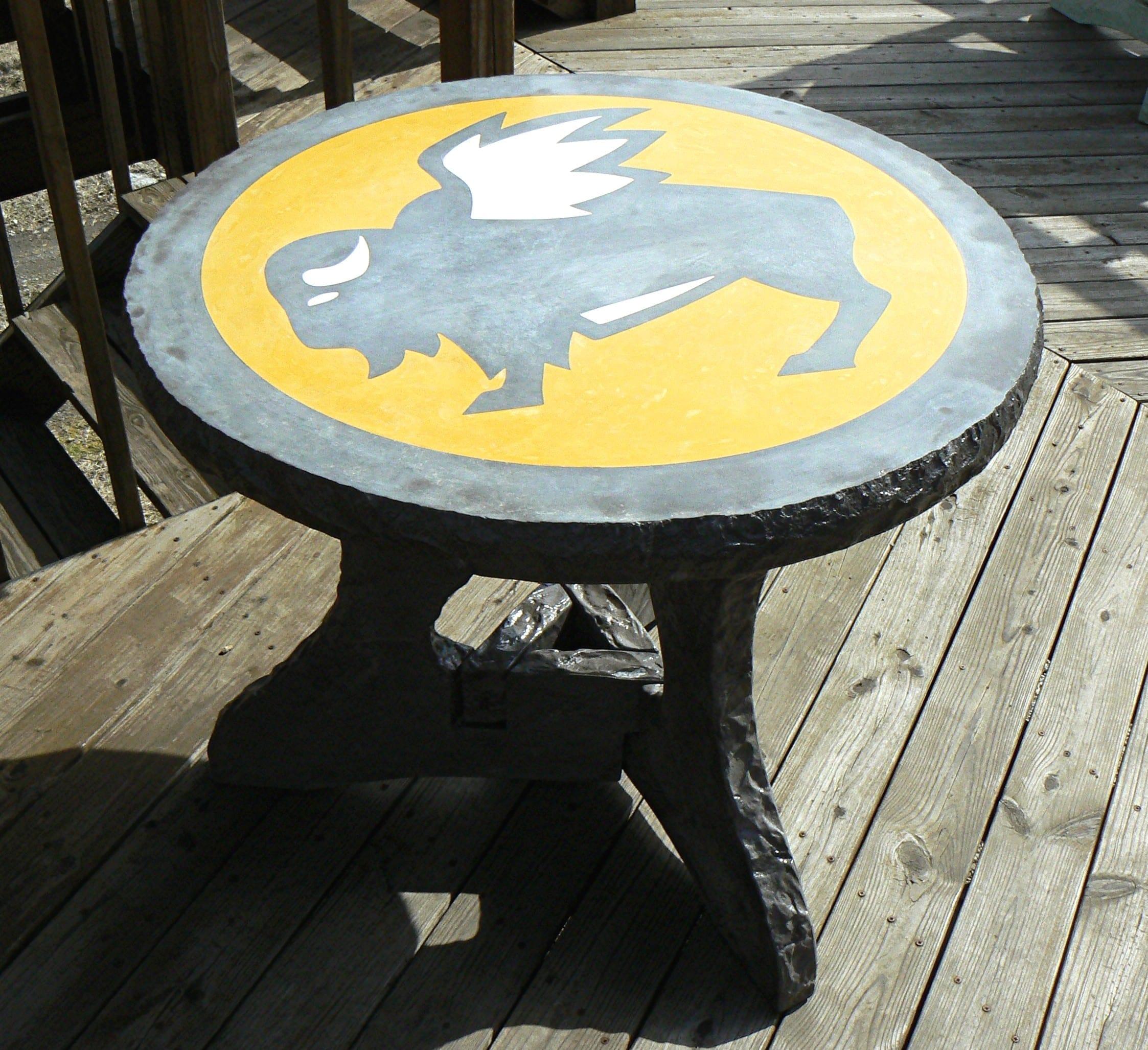 Charcoal Buffalo Concrete Table Design