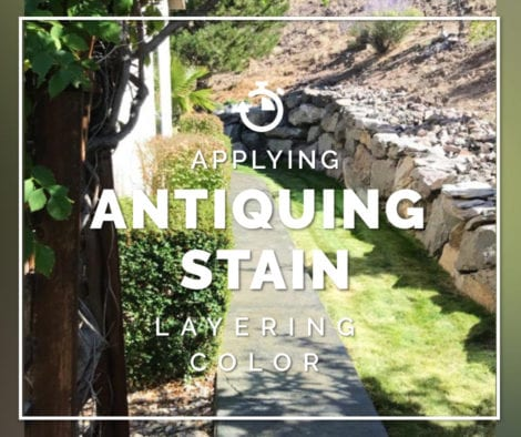 Concrete Patio Staining - Antiquing Stain Layering Color