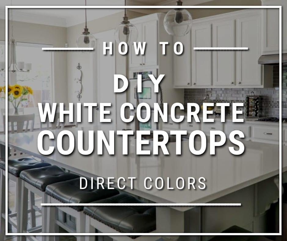 Design by project: White Concrete Countertop Integral Pigment
