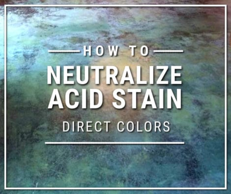 How to Neutralize Acid Stain