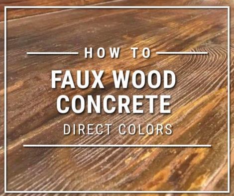 Faux Wood Concrete Stain Technique