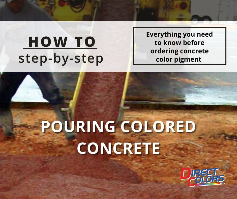 How-To Pouring Colored Concrete