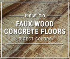 How-To Stain Concrete Like Wood