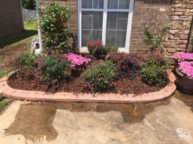 Faded Stamped Concrete Border