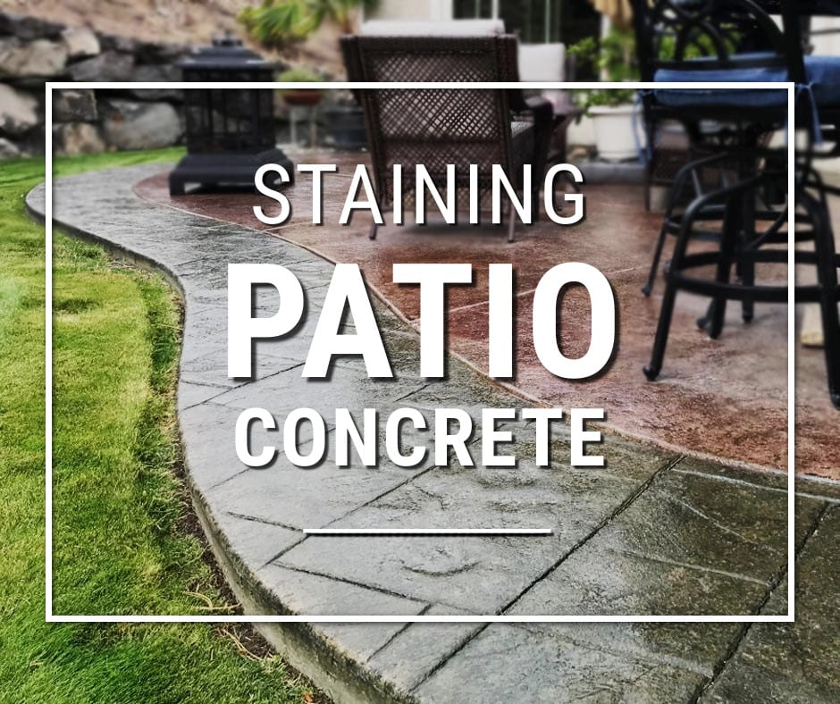 Design by colorant: Concrete Patio Staining