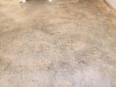 Properly cleaned and prepared concrete surface