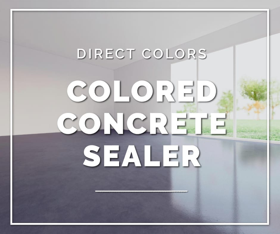 Colored Concrete Sealer