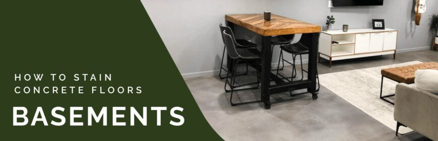 How to Stain Basement Concrete Floors