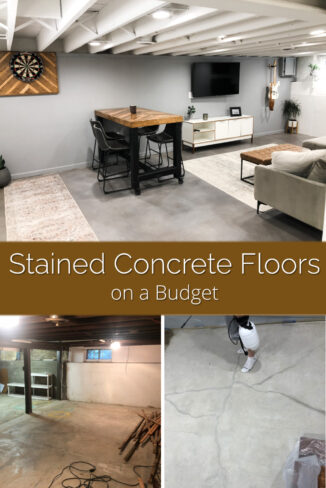 Stained Concrete Floors on a Budget