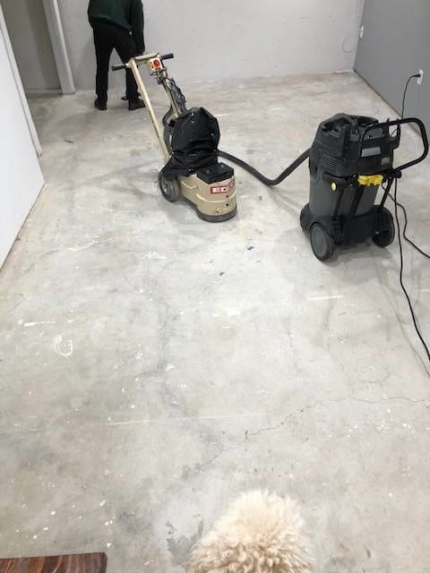 Removing Old Paint with a Concrete Grinder