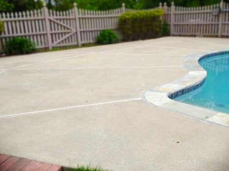 Pool Deck Before Concrete Stain