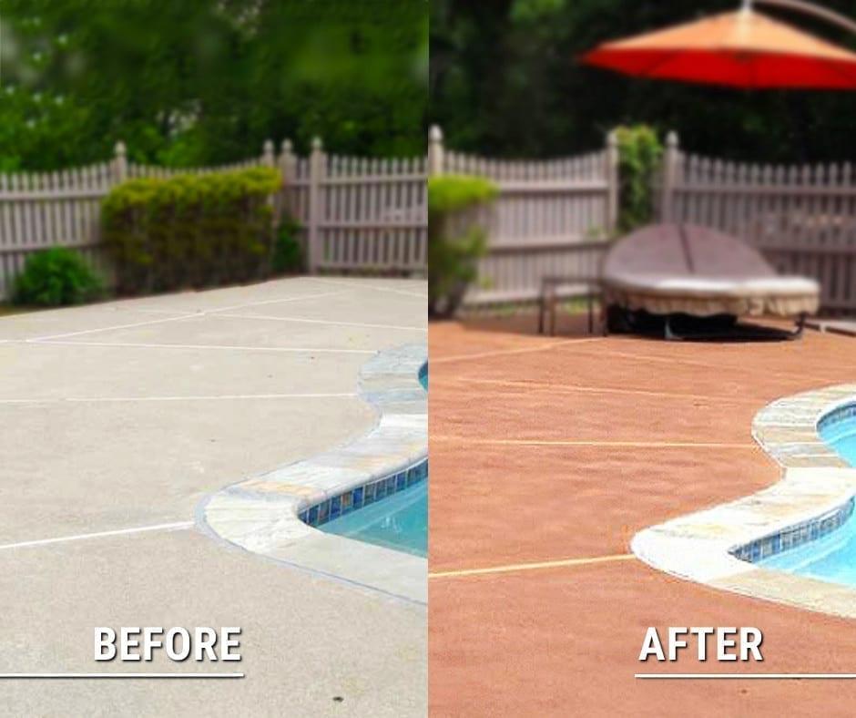 Design by technique: Staining Concrete Pool Decks