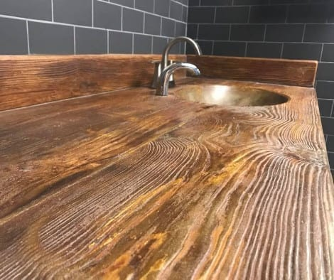 Faux Wood Concrete Countertop