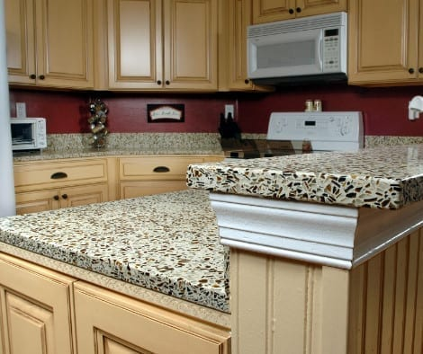 Glass Aggregate Concrete Countertop