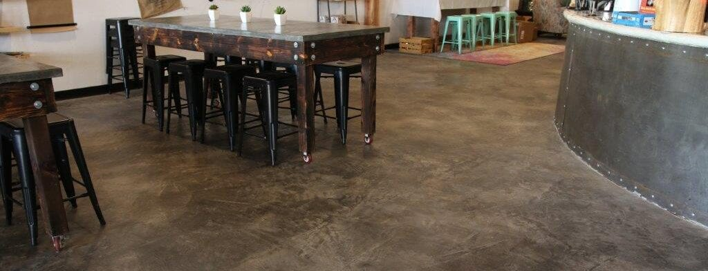 Black Tinted Sealer on Concrete Floor