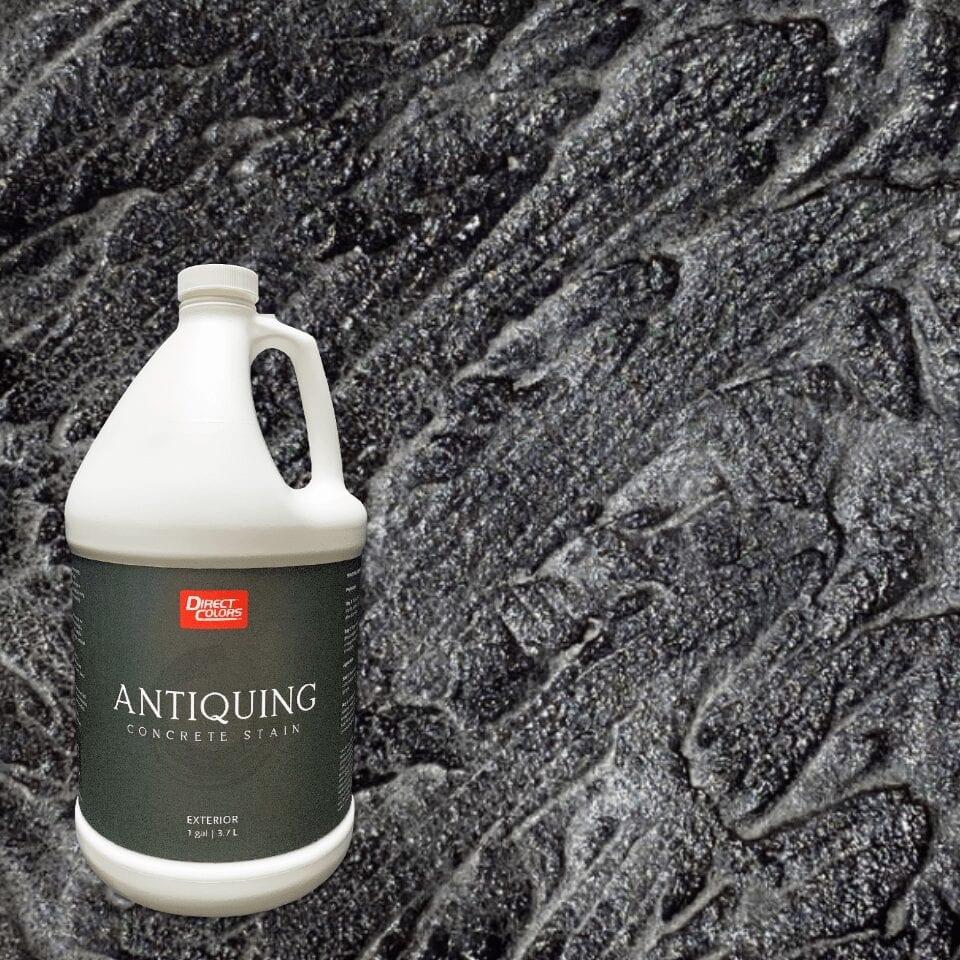 Antiquing Concrete Stain Color Black