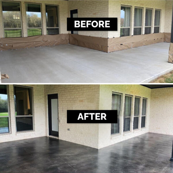 Antiquing Black Stained Patio B&A