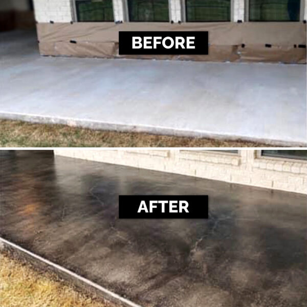 Black Stain Patio B&A
