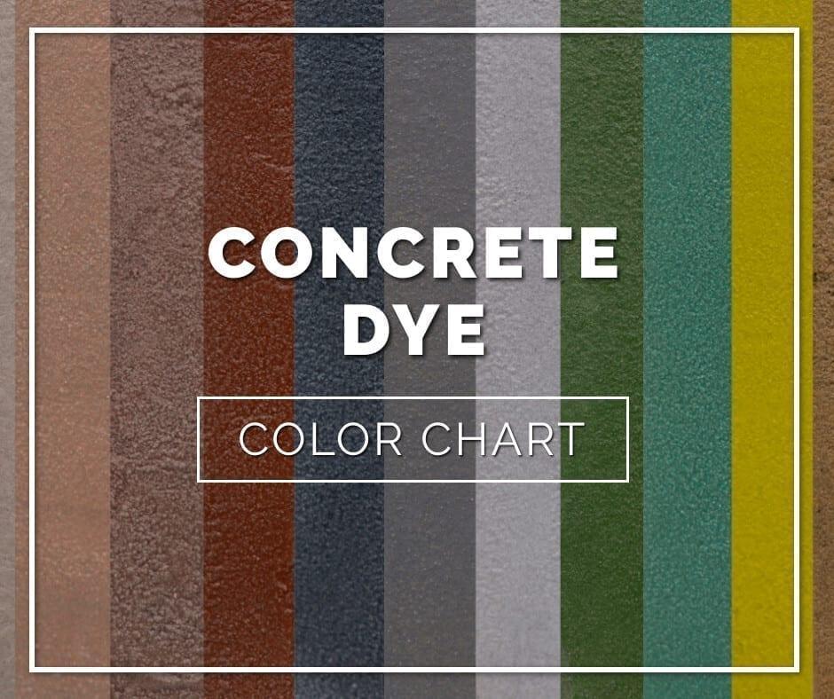 Concrete Dye Color Chart