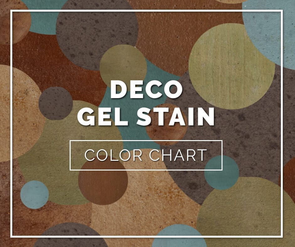 Deco Gel Stain Color Chart