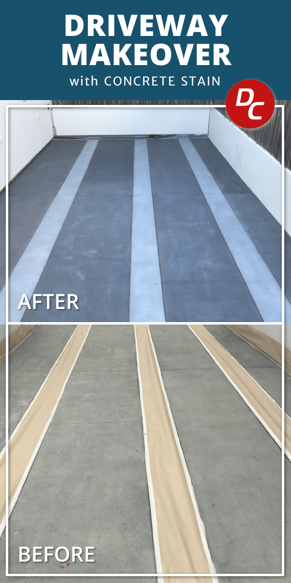 Concrete Driveway Makeover with Concrete Dye