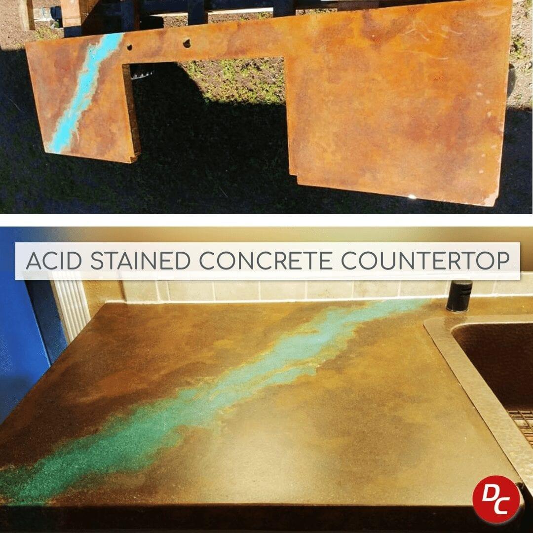 Acid Stain Concrete Countertop