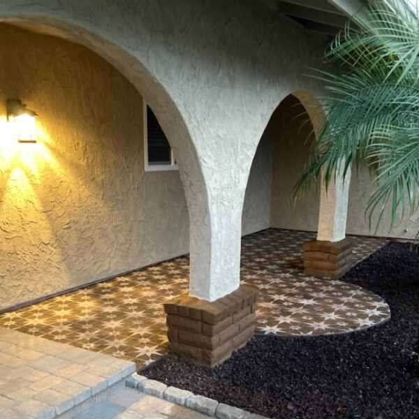 Concrete Patio Dye Design