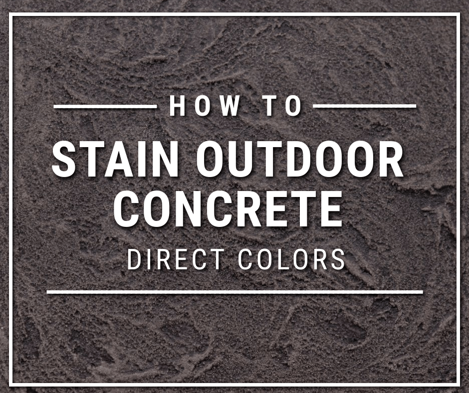 How to stain outdoor concrete